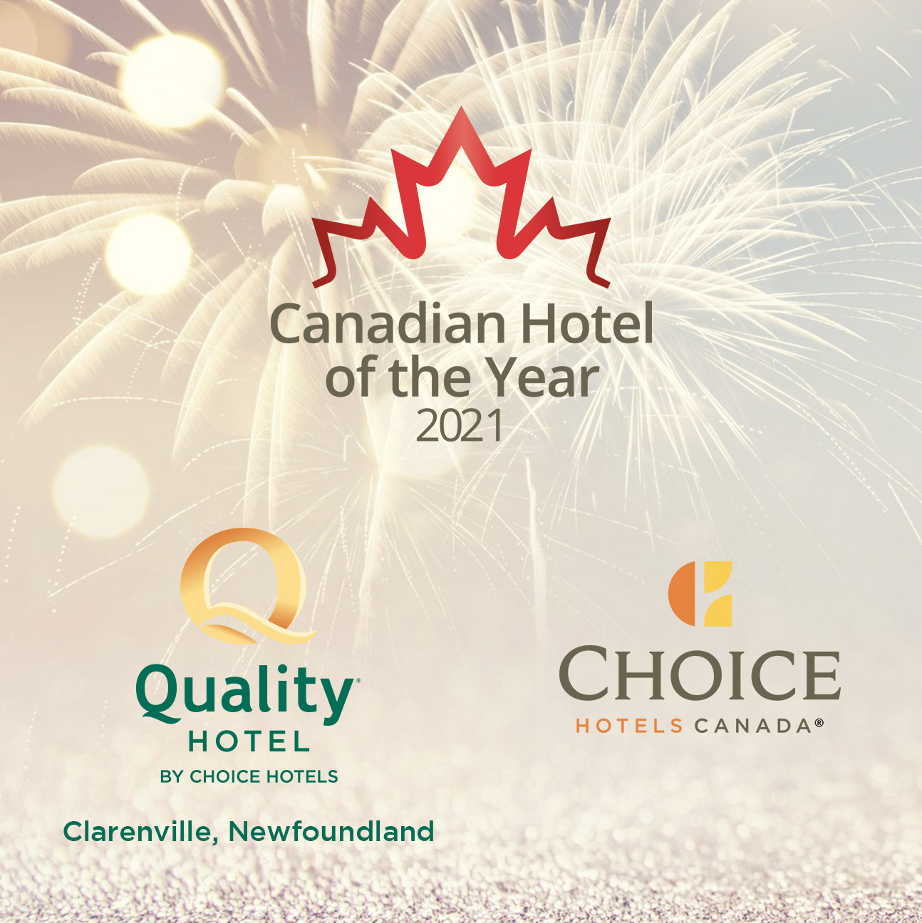 2021- Hotel of the Year Quality Hotel Clarenville Newfoundland